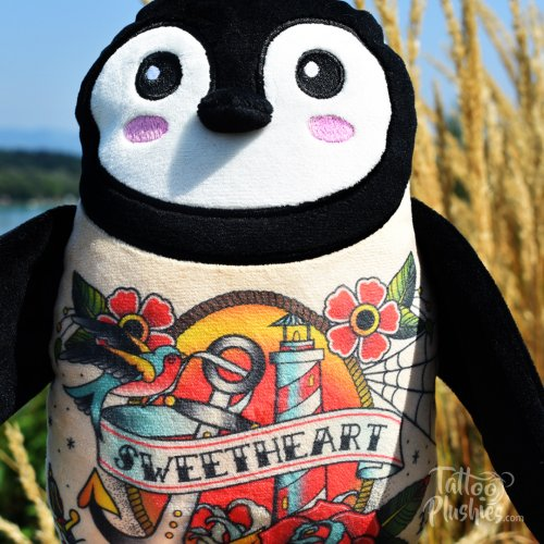Tattoo Plushies lighthouse chest tattoo