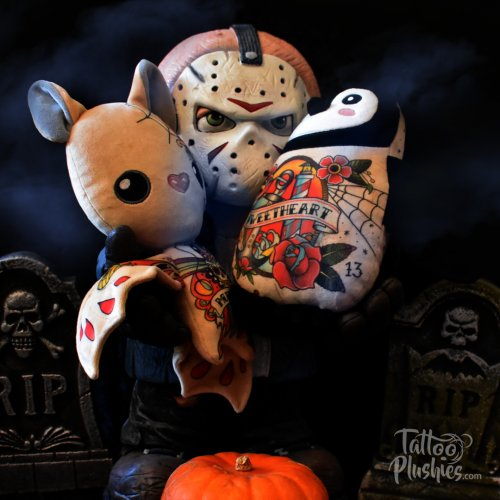 Happy Halloween Tattoo Plushies with Jason
